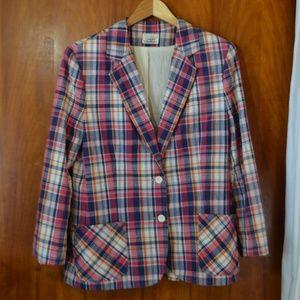 Vintage 70s-80s Country Suburbans Plaid Blazer